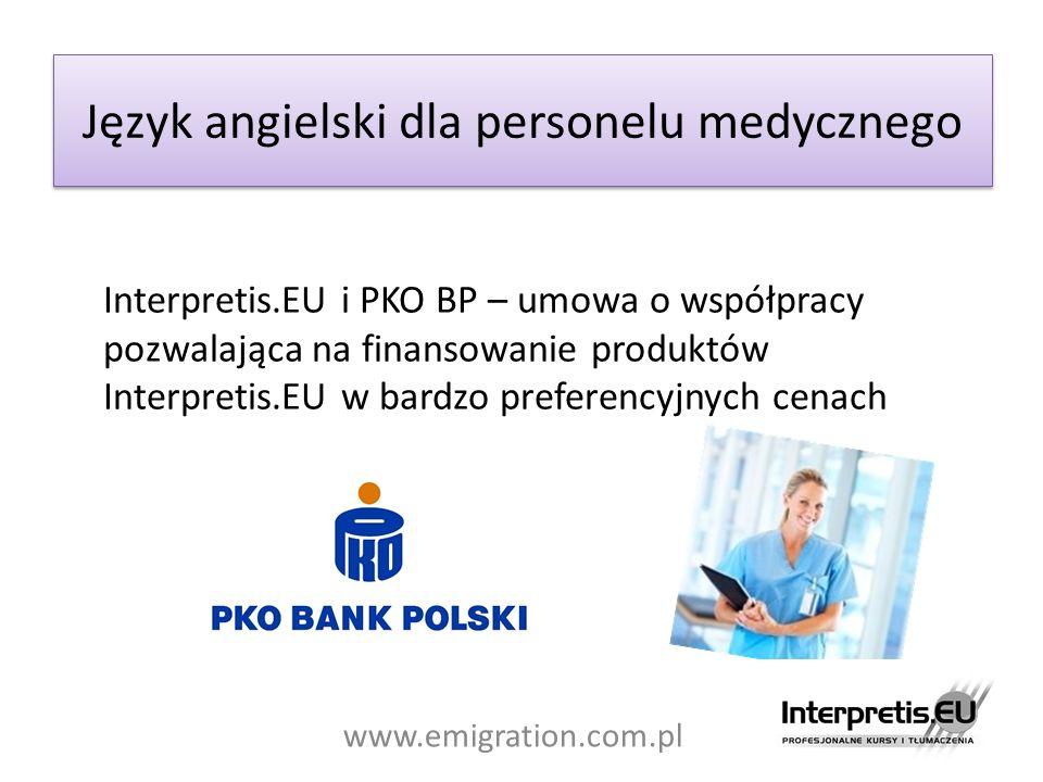 Język angielski dla personelu medycznego Interpretis.EU i PKO BP – umowa o współpracy pozwalająca na finansowanie produktów Interpretis.EU w bardzo pr