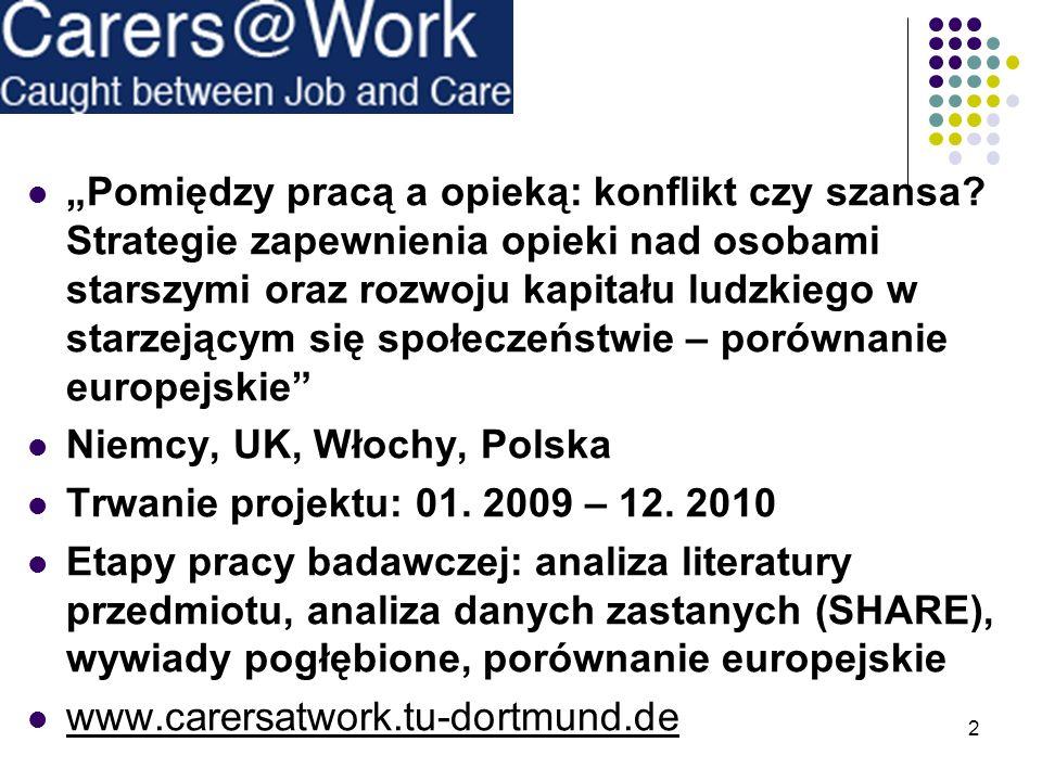 Pomiędzy pracą a opieką: konflikt czy szansa? Strategie zapewnienia opieki nad osobami starszymi oraz rozwoju kapitału ludzkiego w starzejącym się spo