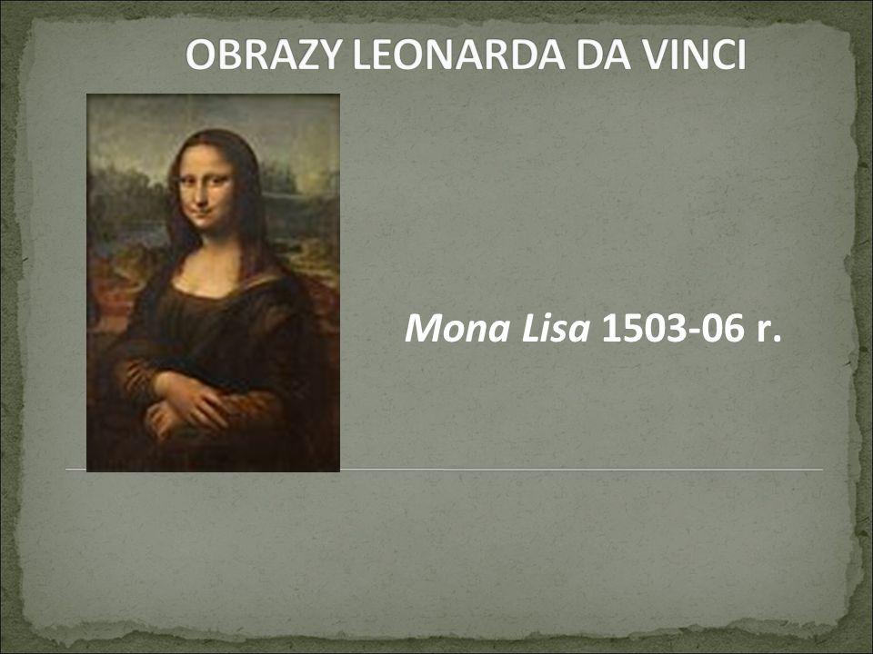Mona Lisa 1503-06 r.