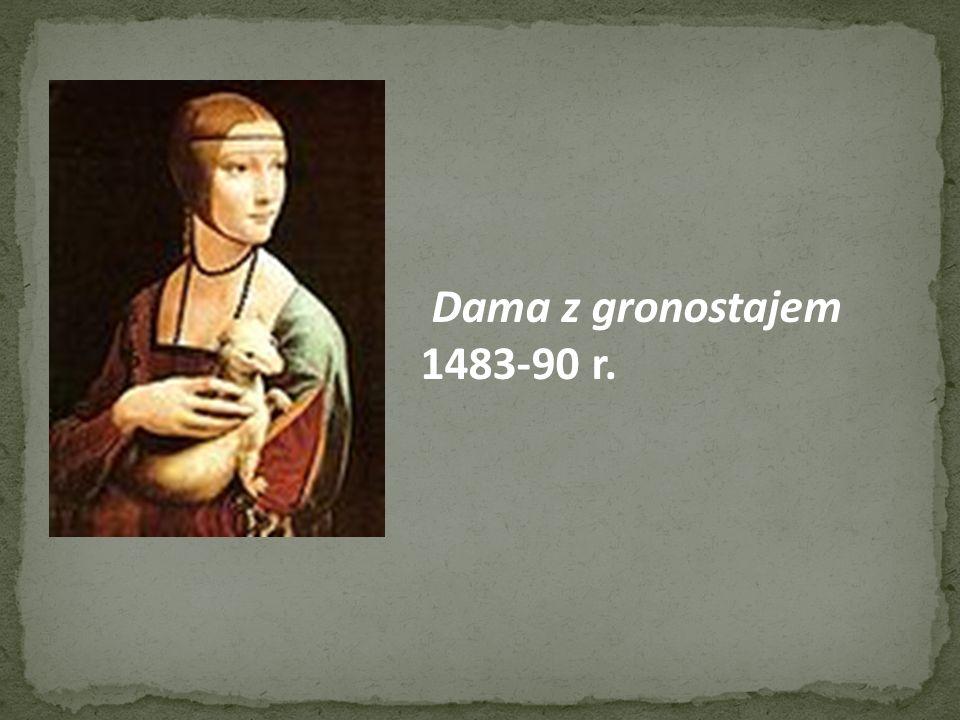 Dama z gronostajem 1483-90 r.
