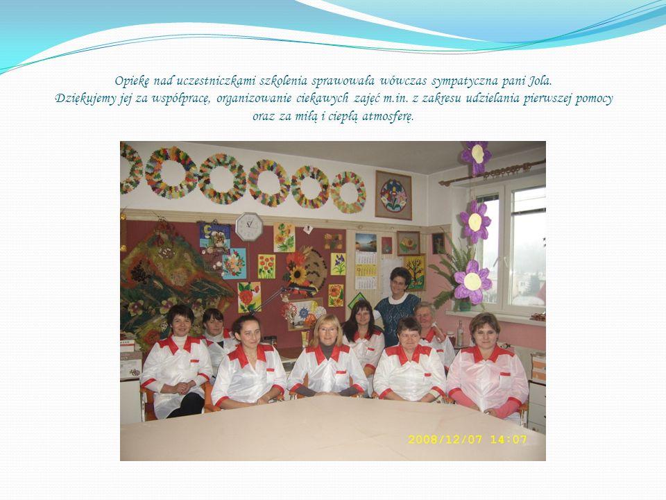 Opiekę nad uczestniczkami szkolenia sprawowała wówczas sympatyczna pani Jola.