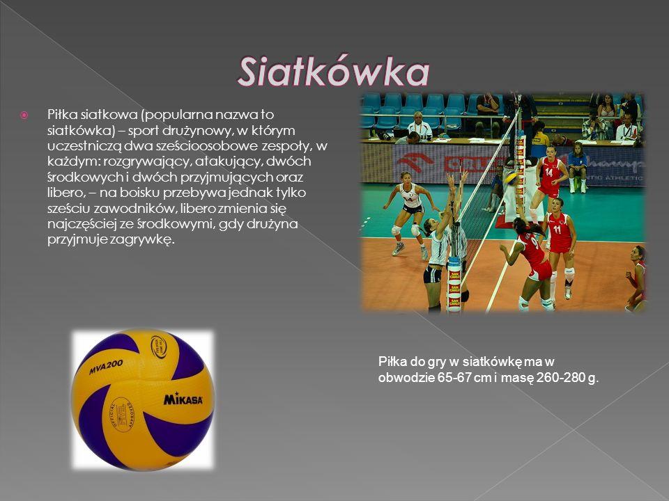 Piłka siatkowa (popularna nazwa to siatkówka) – sport drużynowy, w którym uczestniczą dwa sześcioosobowe zespoły, w każdym: rozgrywający, atakujący, d