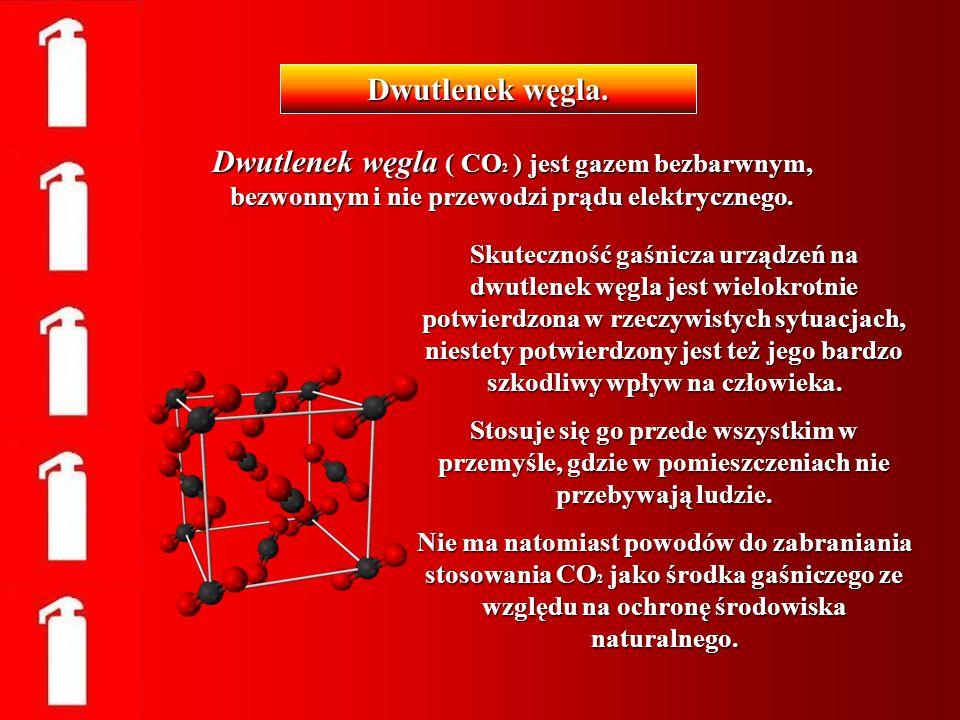 Dwutlenek węgla ( CO 2 ) jest gazem bezbarwnym, bezwonnym i nie przewodzi prądu elektrycznego. Dwutlenek węgla. Skuteczność gaśnicza urządzeń na dwutl