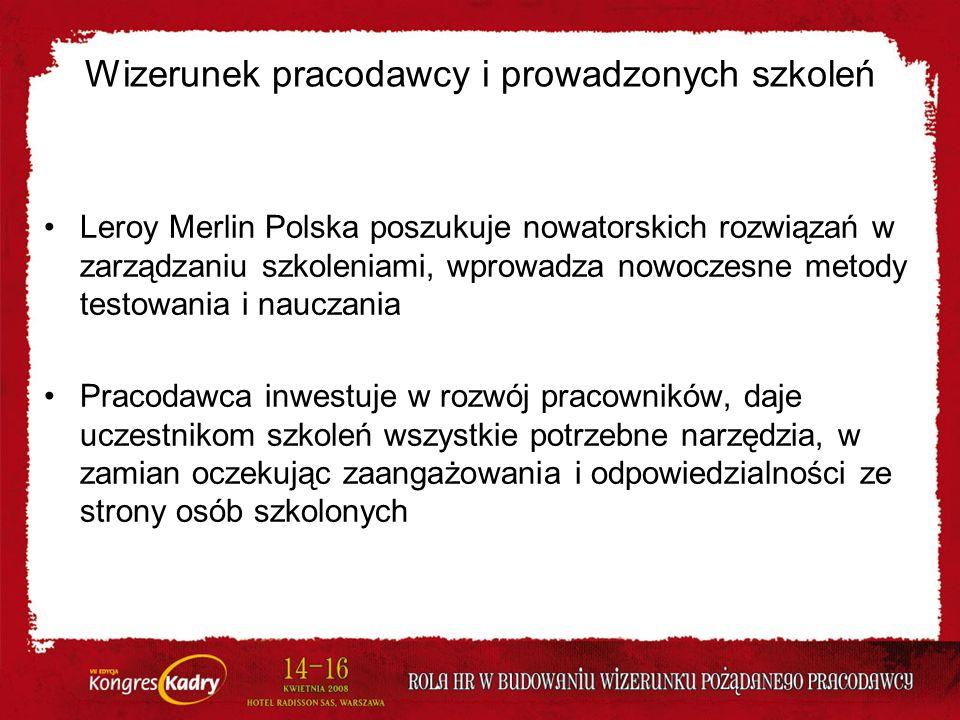 Wizerunek pracodawcy i prowadzonych szkoleń Leroy Merlin Polska poszukuje nowatorskich rozwiązań w zarządzaniu szkoleniami, wprowadza nowoczesne metod