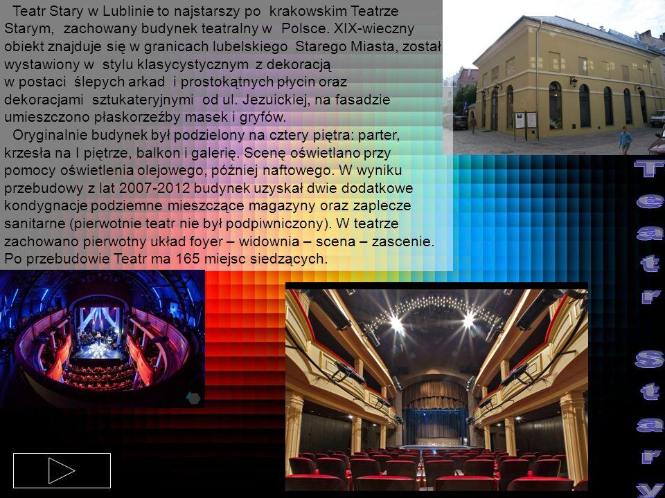 Teatr Stary w Lublinie to najstarszy po krakowskim Teatrze Starym, zachowany budynek teatralny w Polsce. XIX-wieczny obiekt znajduje się w granicach l