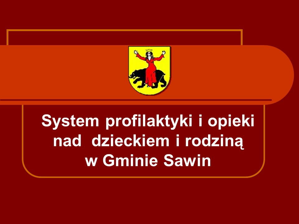 System profilaktyki i opieki nad dzieckiem i rodziną w Gminie Sawin