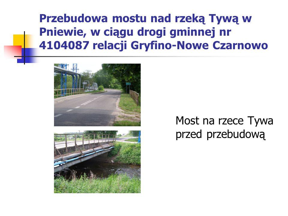 Most na rzece Tywa przed przebudową