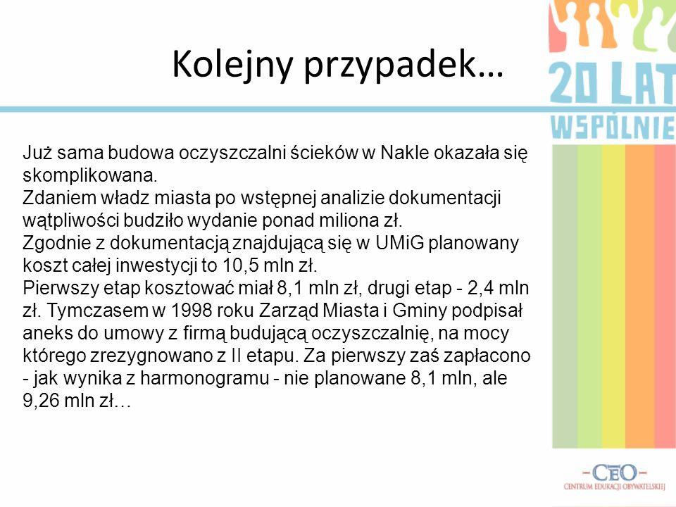 Komunalne przedsiębiorstwo Wodociągów i Kanalizacji w Nakle nad Notecią przy ul.