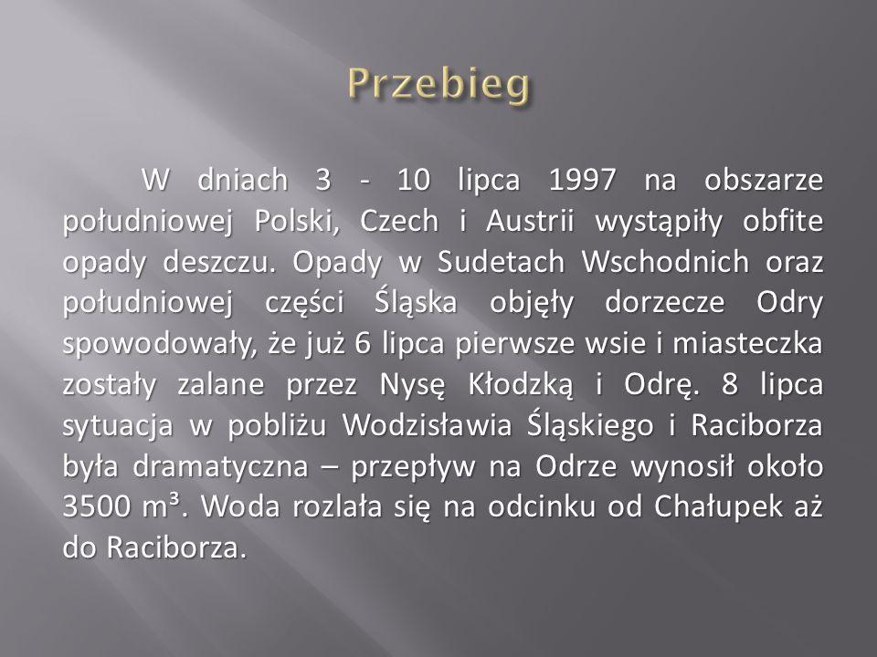 W dniach 3 - 10 lipca 1997 na obszarze południowej Polski, Czech i Austrii wystąpiły obfite opady deszczu. Opady w Sudetach Wschodnich oraz południowe