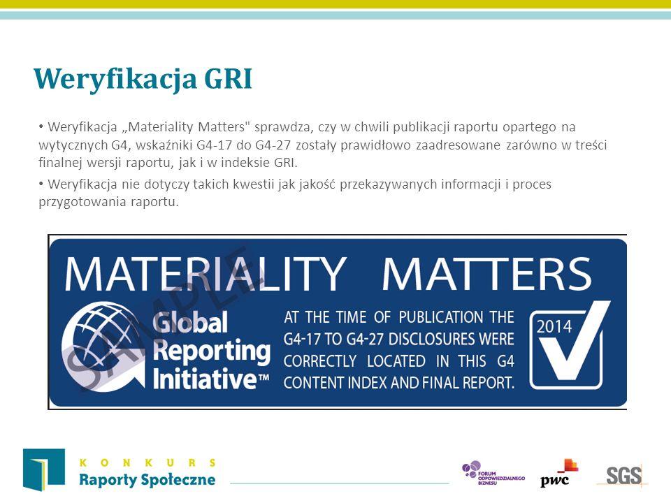 Weryfikacja GRI Weryfikacja Materiality Matters