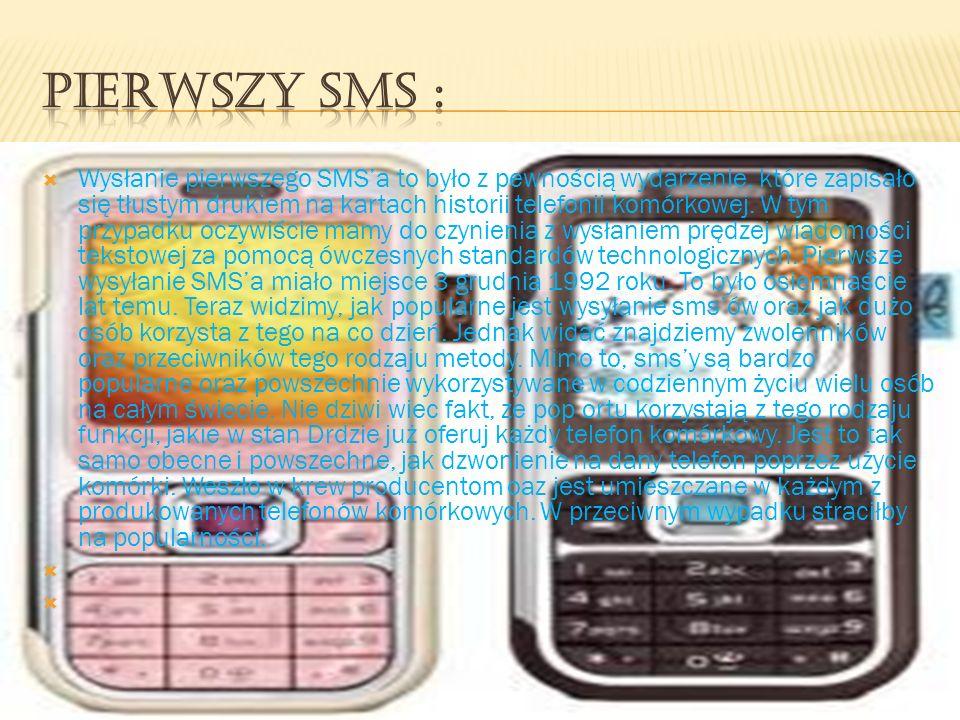Wysłanie pierwszego SMSa to było z pewnością wydarzenie, które zapisało się tłustym drukiem na kartach historii telefonii komórkowej. W tym przypadku