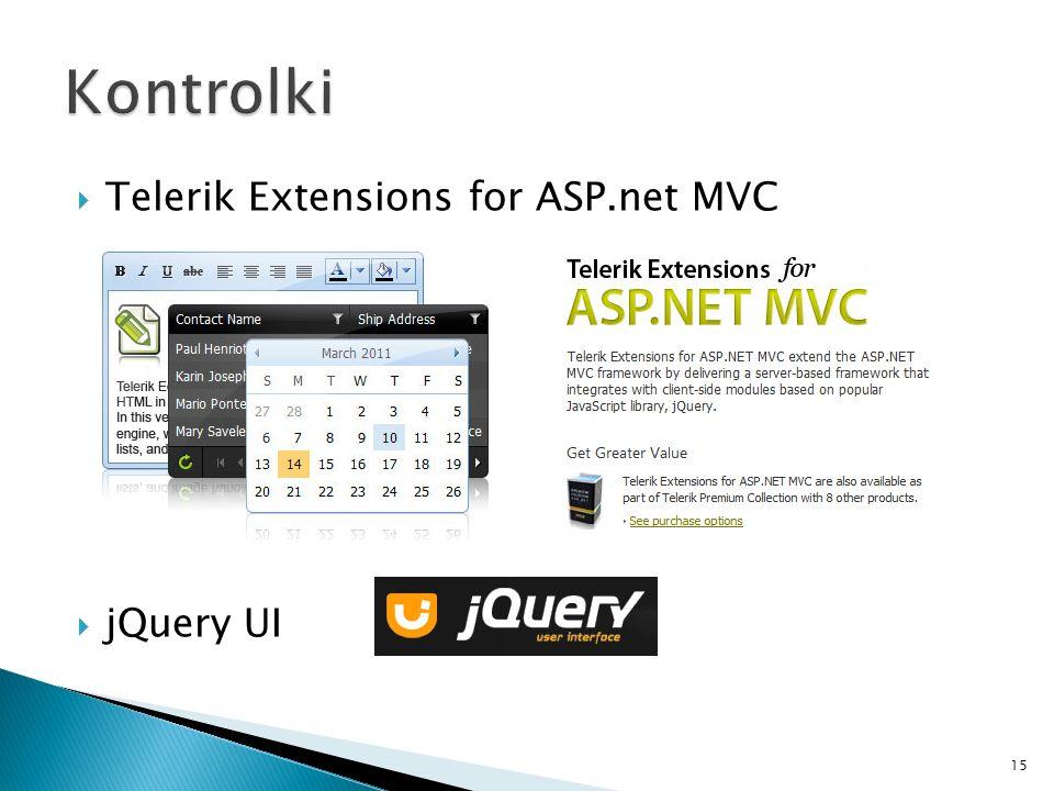 Telerik Extensions for ASP.net MVC jQuery UI 15