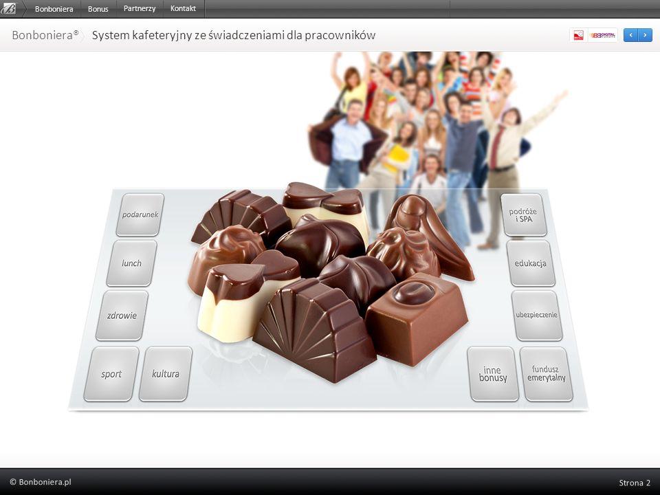 Bonboniera Bonboniera® System kafeteryjny ze świadczeniami dla pracowników Bonus PartnerzyKontakt
