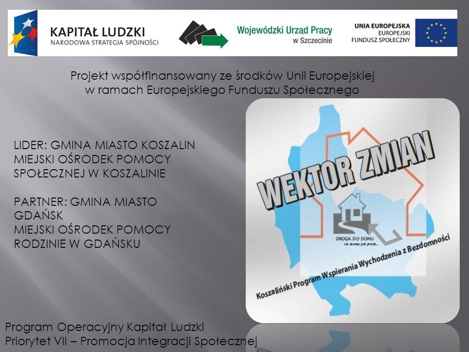 Projekt współfinansowany ze środków Unii Europejskiej w ramach Europejskiego Funduszu Społecznego Program Operacyjny Kapitał Ludzki Priorytet VII – Pr