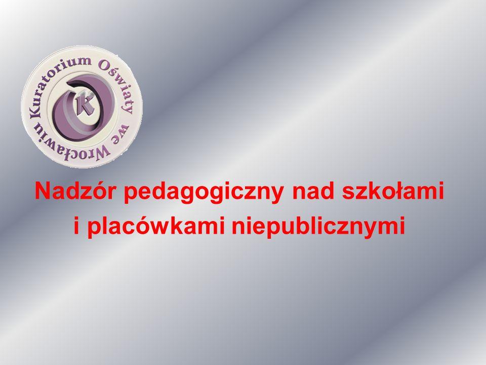 Nadzór pedagogiczny nad szkołami i placówkami niepublicznymi