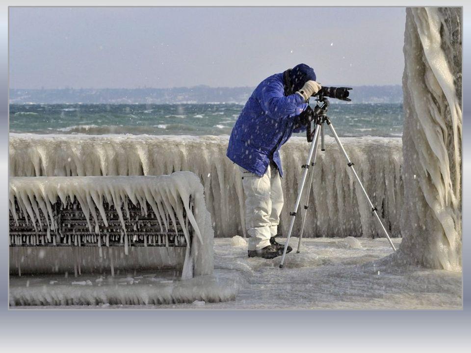 Tę niezwykłą zimową galerię podziwiają mieszkańcy i turyści, robiąc sobie pamiątkowe zdjęcia.