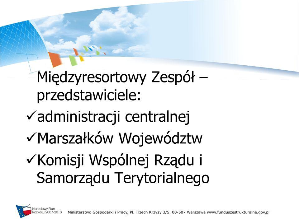 Uczestnicy konsultacji społeczno-gospodarczych: samorządy województw i innych JST eksperci i jednostki naukowe partnerzy społeczni i gospodarczy (organizacje przedsiębiorców i pracodawców, związki zawodowe, samorządy zawodowe, organizacje pozarządowe, władze kościelne) parlamentarzyści przedstawiciele Komisji Europejskiej