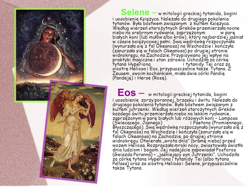 Selene – w mitologii greckiej tytanida, bogini i uosobienie Księżyca. Należała do drugiego pokolenia tytanów. Była bóstwem związanym z kultem Księżyca