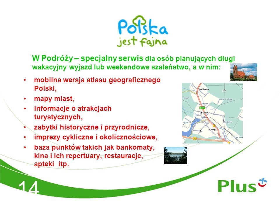 mobilna wersja atlasu geograficznego Polski, mapy miast, informacje o atrakcjach turystycznych, zabytki historyczne i przyrodnicze, imprezy cykliczne