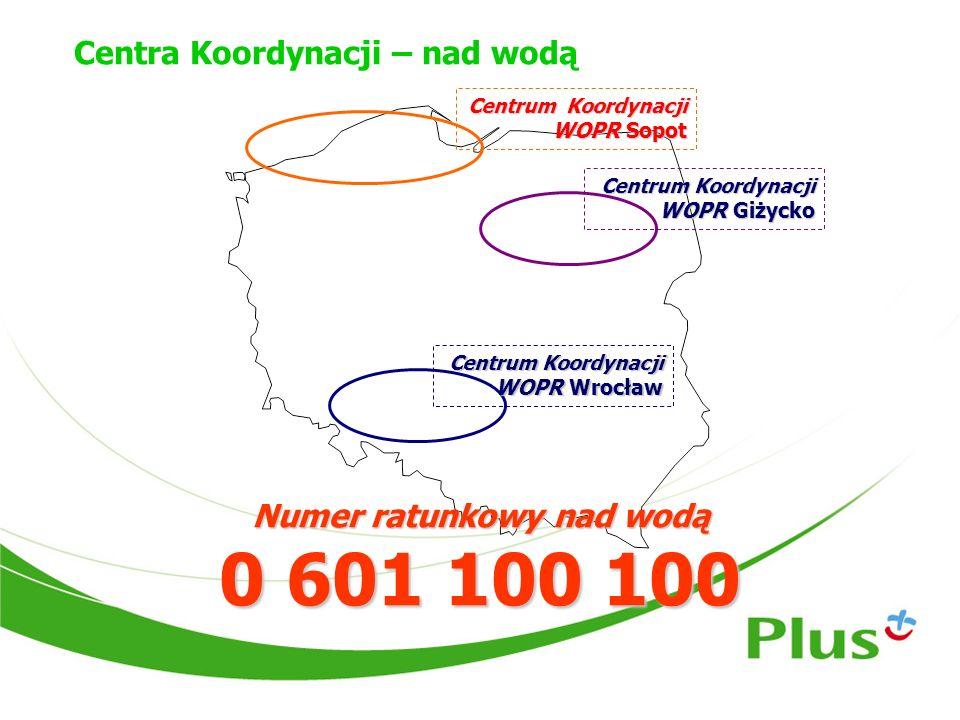 Centra Koordynacji – nad wodą Centrum Koordynacji WOPR Sopot Centrum Koordynacji WOPR Giżycko Numer ratunkowy nad wodą 0 601 100 100 Centrum Koordynac