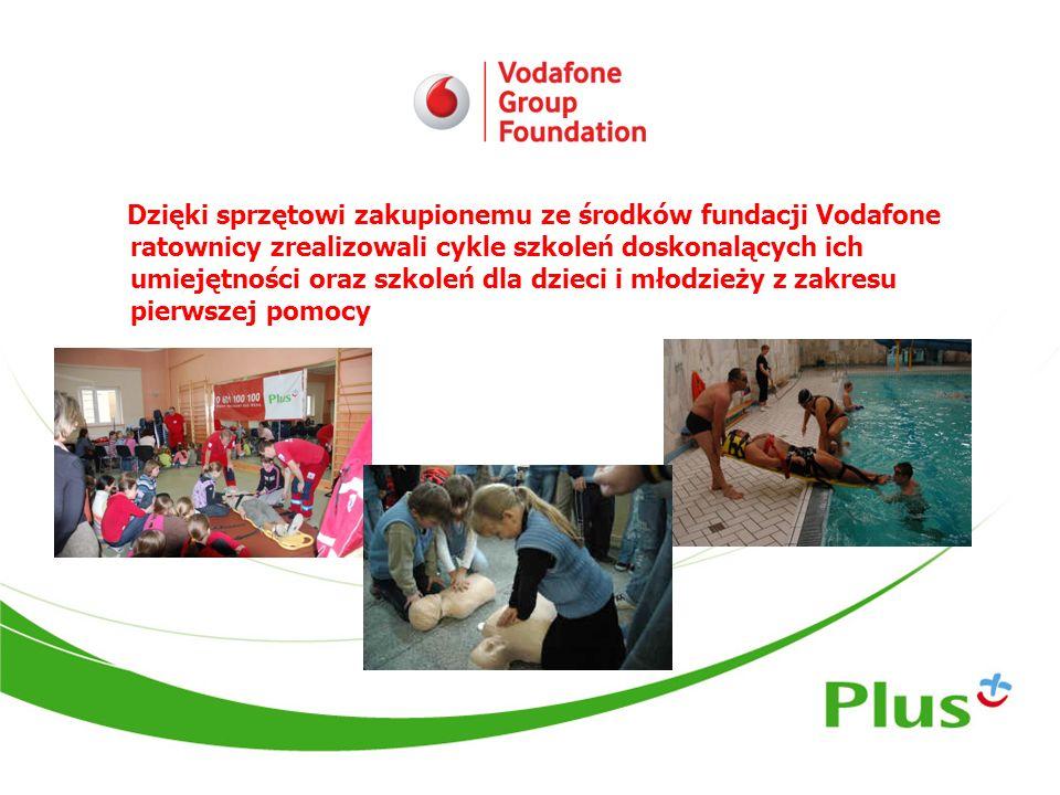 Dzięki sprzętowi zakupionemu ze środków fundacji Vodafone ratownicy zrealizowali cykle szkoleń doskonalących ich umiejętności oraz szkoleń dla dzieci
