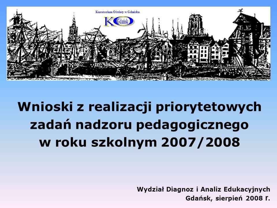 Wydział Diagnoz i Analiz Edukacyjnych Gdańsk, sierpień 2008 r.