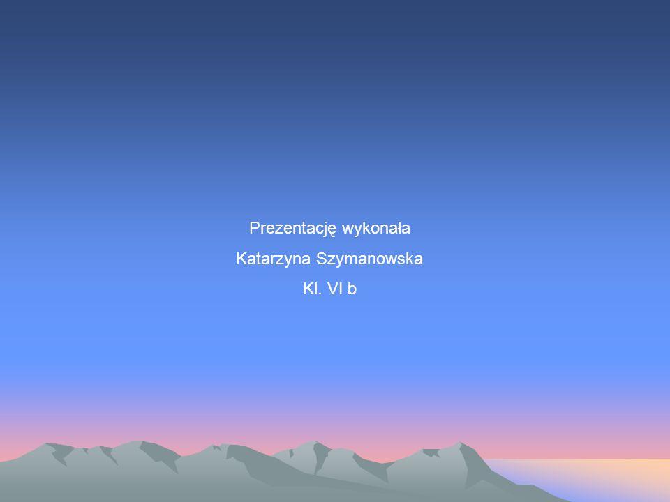 Prezentację wykonała Katarzyna Szymanowska Kl. VI b