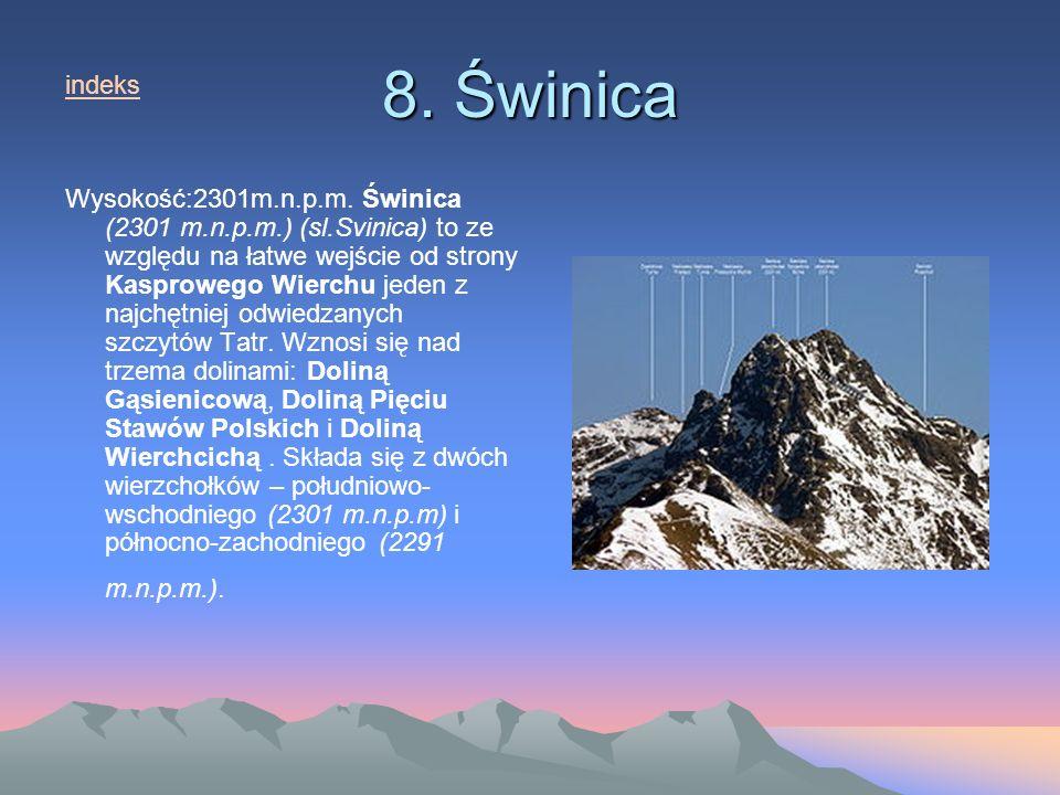 8.Świnica Wysokość:2301m.n.p.m.