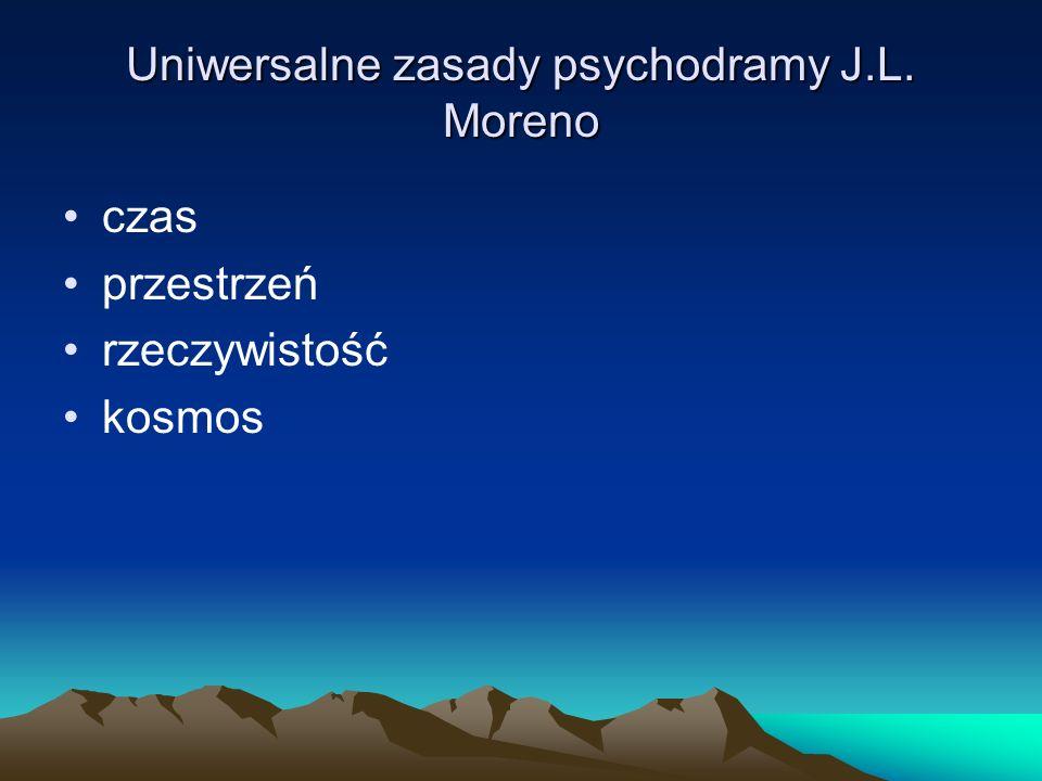 Uniwersalne zasady psychodramy J.L. Moreno czas przestrzeń rzeczywistość kosmos