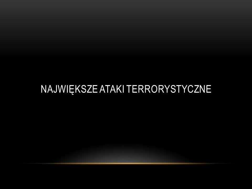WORLD TRADE CENTER 11 WRZEŚNIA 2001 Zabitych ludzi: 2993 Rannych ludzi: 8900