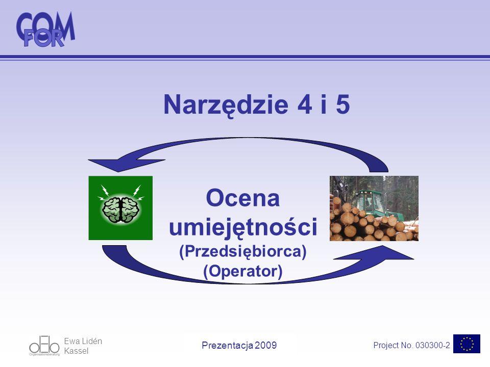 Ewa Lidén Kassel Project No.030300-2 Presentation 2009 Potrzeba szkoleń WymaganyObecnieSzkolenie.
