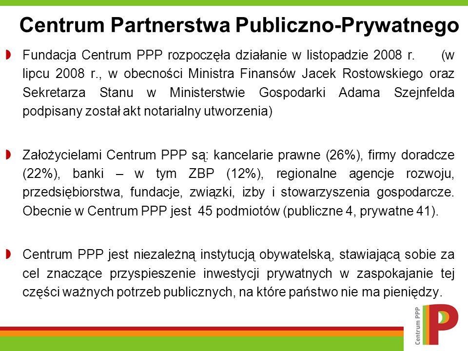 Fundacja Centrum PPP rozpoczęła działanie w listopadzie 2008 r.