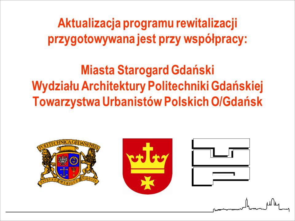 Aktualizacja programu rewitalizacji przygotowywana jest przy współpracy: Miasta Starogard Gdański Wydziału Architektury Politechniki Gdańskiej Towarzy