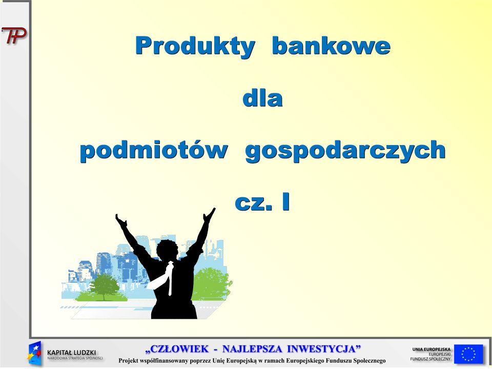 Elementy systemu bankowego w Polsce Bank Centralny – Narodowy Bank Polski, Komisja Nadzoru Finansowego, Bankowy Fundusz Gwarancyjny, banki operacyjne – banki komercyjne, depozytowo- kredytowe, uniwersalne, banki specjalne – banki inwestycyjne, hipoteczne, rolne, spółdzielcze, komunalne oraz towarzystwa kredytowe, kasy oszczędnościowe
