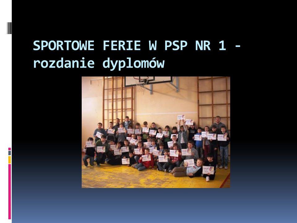 SPORTOWE FERIE W PSP NR 1 - rozdanie dyplomów