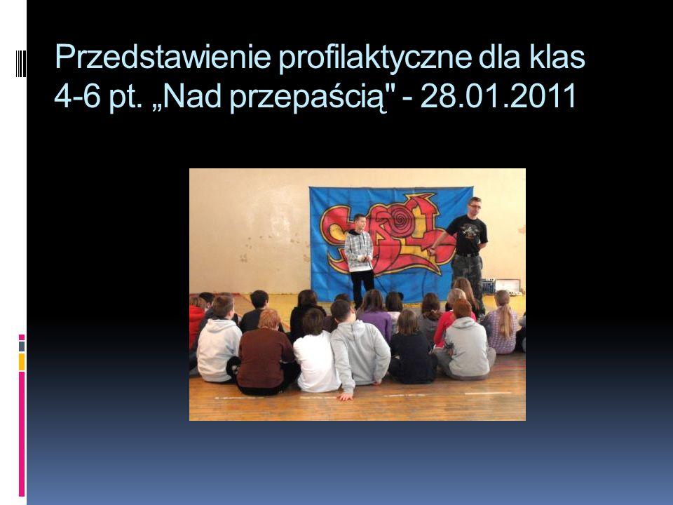 Przedstawienie profilaktyczne dla klas 4-6 pt. Nad przepaścią - 28.01.2011