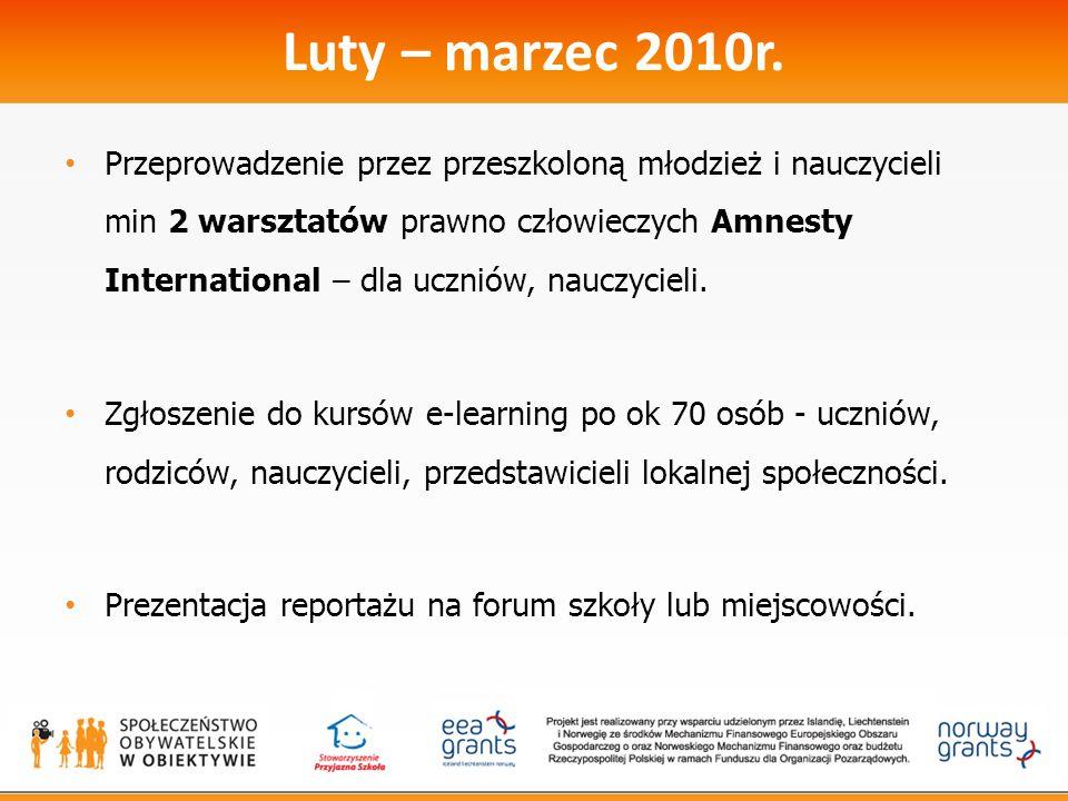Luty – marzec 2010r.