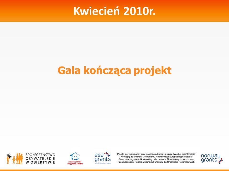 Kwiecień 2010r. Gala kończąca projekt