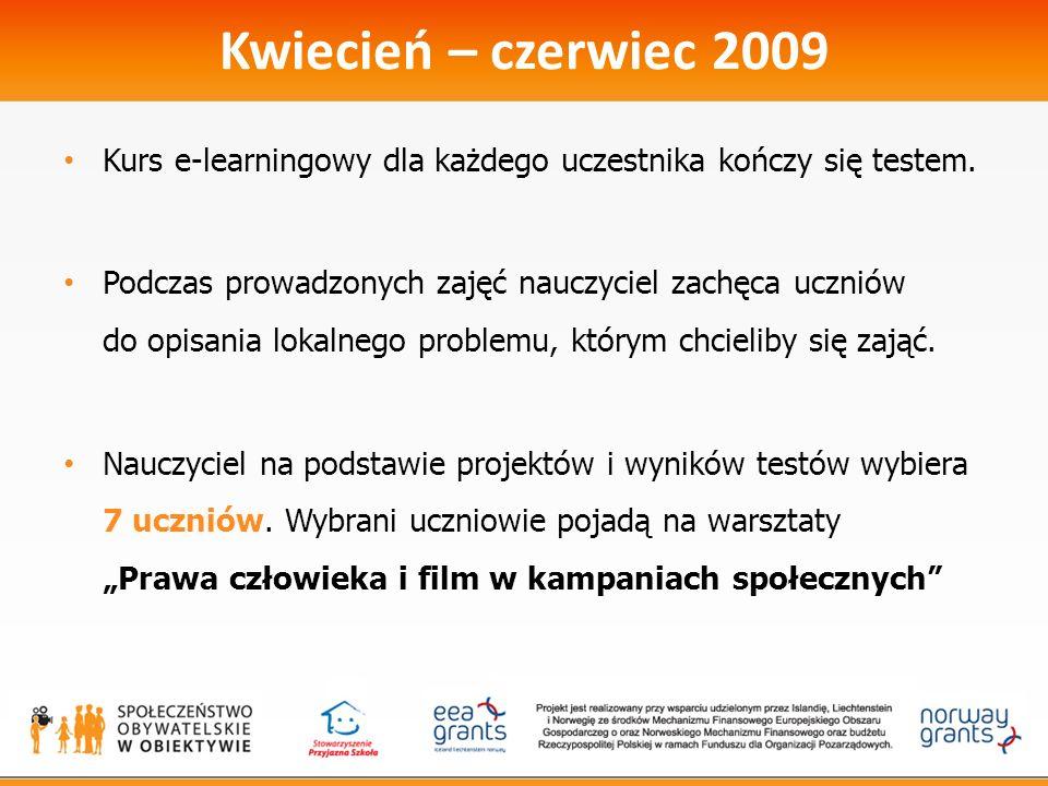Wrzesień - październik 2009 Wrzesień – październik 2009 Prawa człowieka i film w kampaniach społecznych