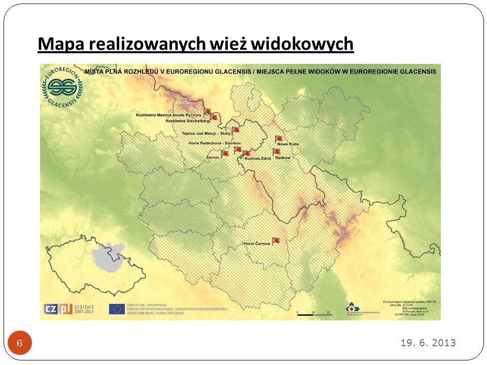 Mapa realizowanych wież widokowych 19. 6. 2013 6