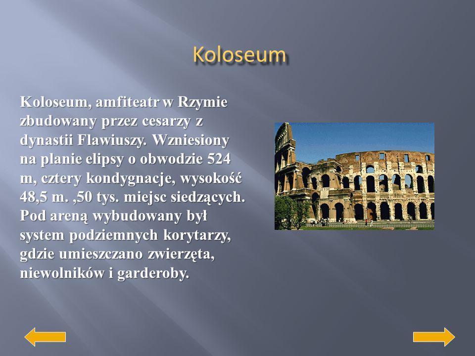 Architektura rzymska Rzymianie stworzyli nowe podstawy urbanistyki jako dziedziny sztuki. Wynalezienie betonu i konstrukcji sklepień kopułowych zrewol