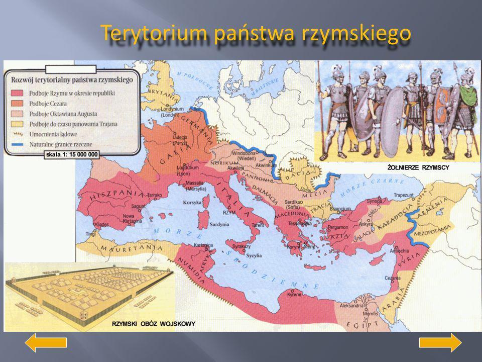 Początki państwa rzymskiego Przez pierwsze 250 lat swego istnienia Rzym był monarchią. Za panowania rodu Tarkwiniuszy osiągnął pozycję jednej z najpot