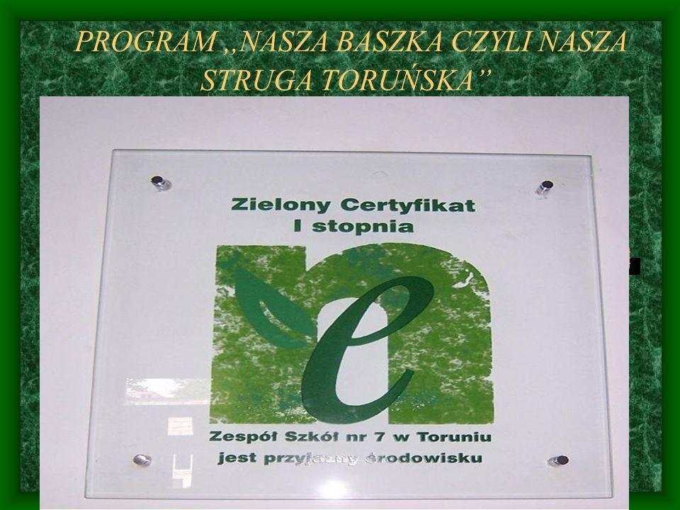 ZADANIA ZREALIZOWANE Ankietowanie uczniów i rodziców w oparciu o opracowane ankiety, dotyczące wiadomości o,, Strudze Toruńskiej i jej ochronie.