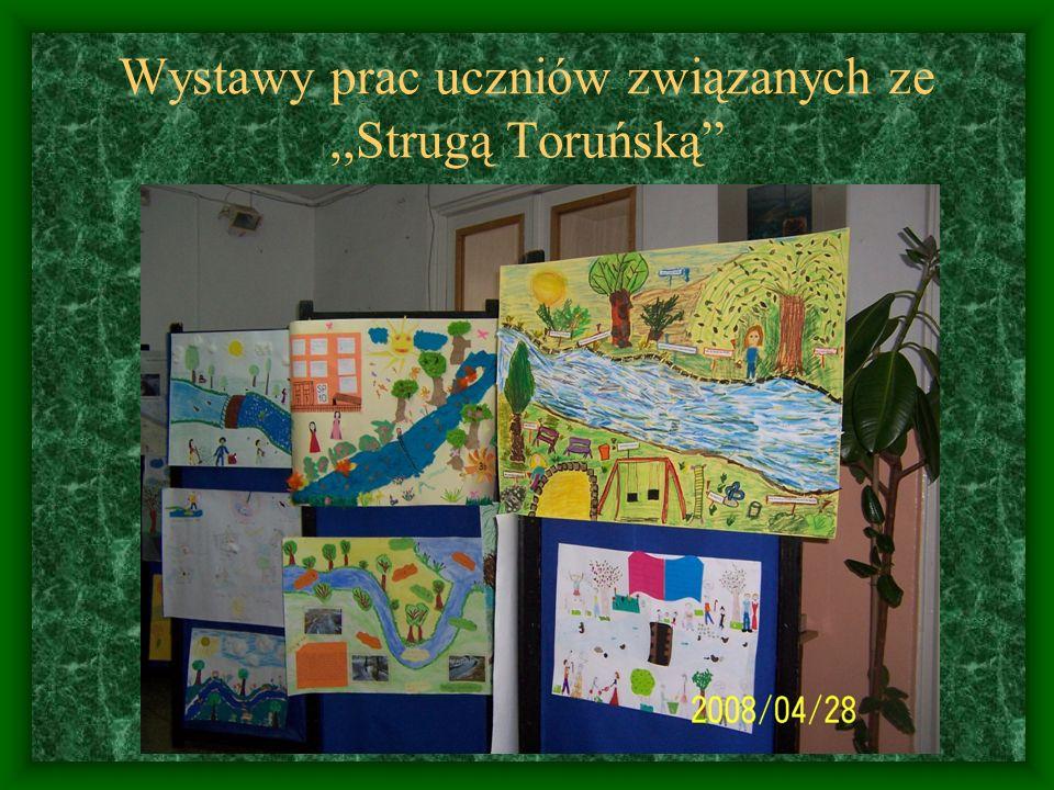 Wystawy prac uczniów związanych ze,,Strugą Toruńską
