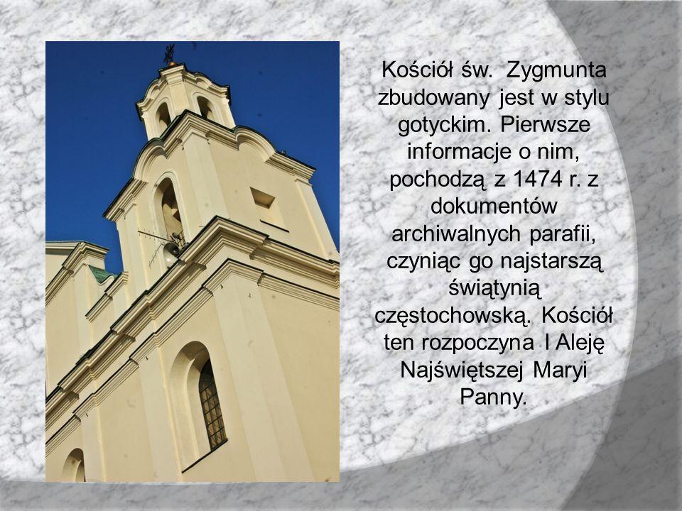 Kościół św. Zygmunta zbudowany jest w stylu gotyckim. Pierwsze informacje o nim, pochodzą z 1474 r. z dokumentów archiwalnych parafii, czyniąc go najs