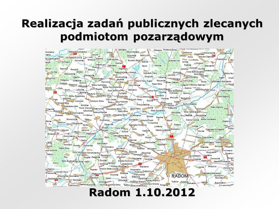 Realizacja zadań publicznych zlecanych podmiotom pozarządowym Radom 1.10.2012
