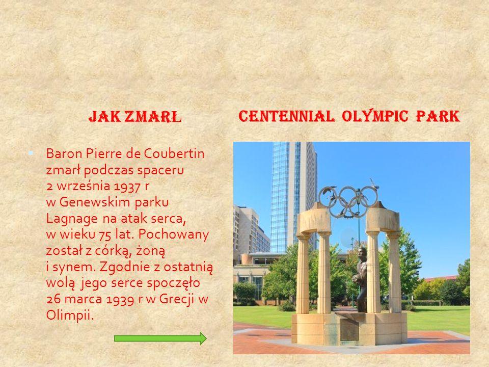 ZASADY OLIMPINIZMU COUBERTINA. olimpizm jako zawieszenie broni, w czteroletnim cyklu święta sportu,