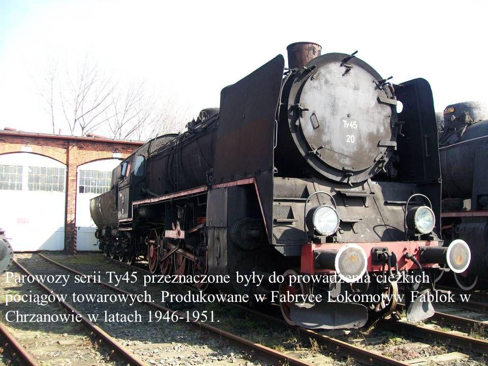 Parowozy serii Ty45 przeznaczone były do prowadzenia ciężkich pociągów towarowych. Produkowane w Fabryce Lokomotyw Fablok w Chrzanowie w latach 1946-1