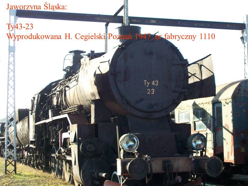 Jaworzyna Śląska: Ty43-23 Wyprodukowana H. Cegielski Poznań 1947, nr fabryczny 1110