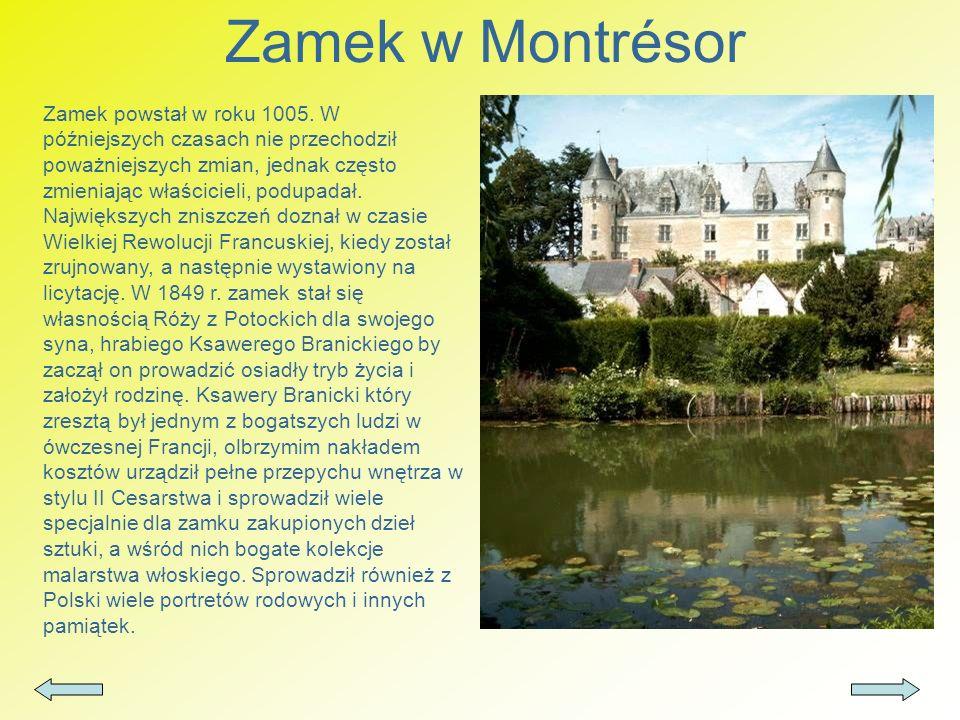 Zamek w Montrésor Zamek powstał w roku 1005. W późniejszych czasach nie przechodził poważniejszych zmian, jednak często zmieniając właścicieli, podupa